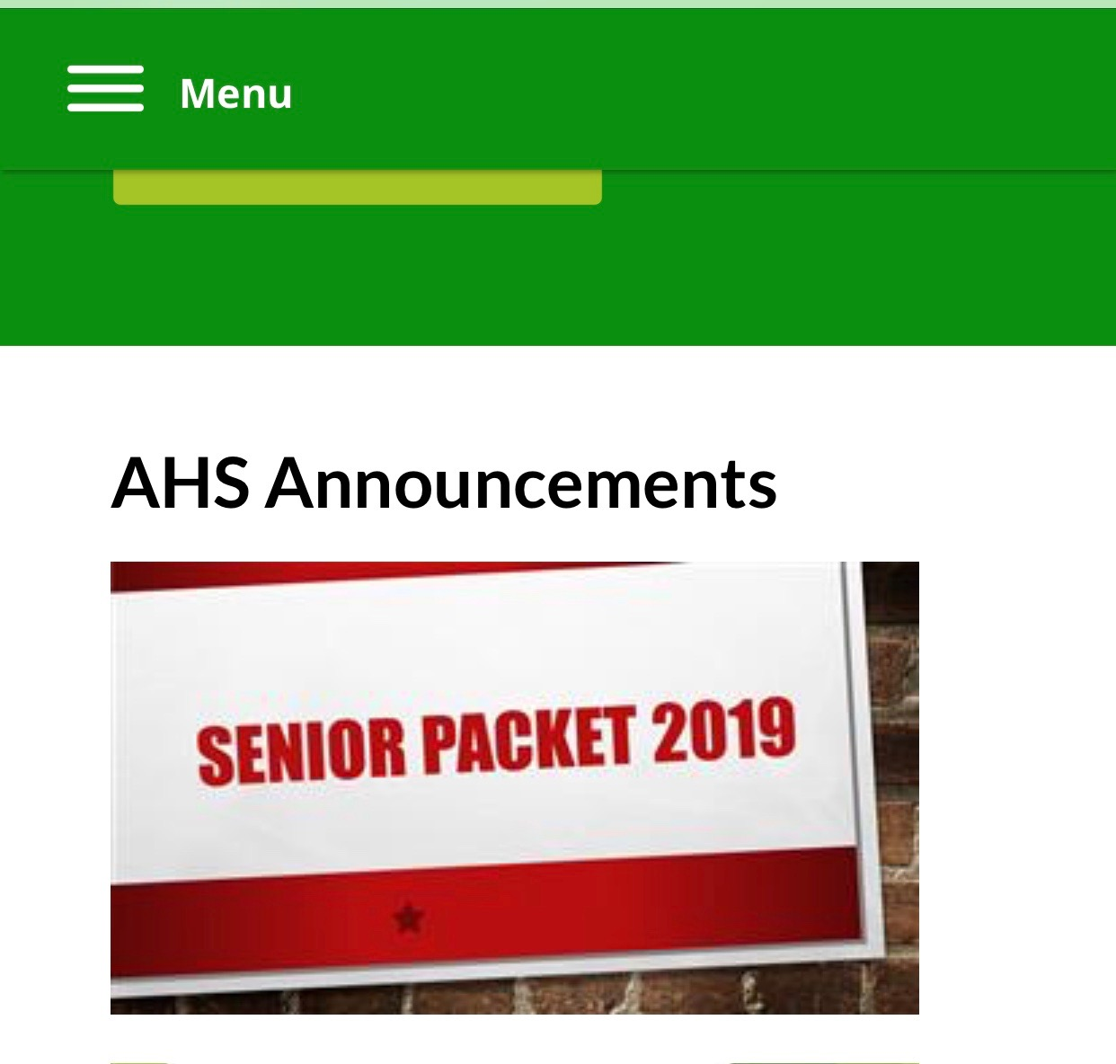 When students go to the school website, they will find this file under AHS Announcements.
