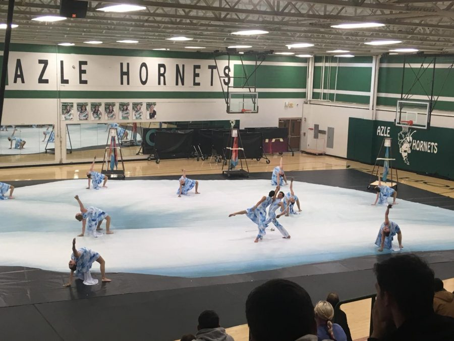 The JV and Varsity winter guard had a show reveal to the public in the fine arts gym. Both shows turned out really well, and the crowd loved it.