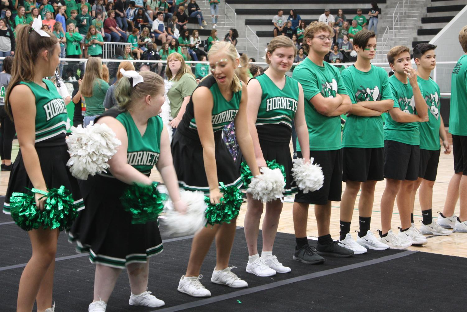 Sparkle Effect and Hornet Muscle at Homecoming pep rally Sep 20