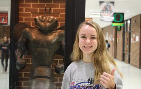 Sophomore Leah North state bound -