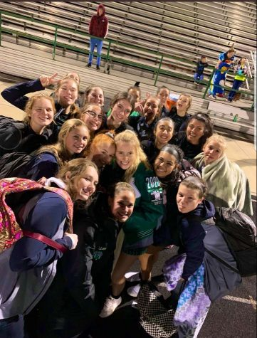 Girls soccer team after scrimmage against Aledo and Timbercreek high school.