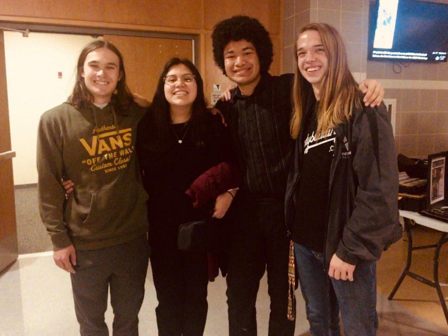 (From left to right) Garrett Whitley, Elizabeth Garcia, Tony Acevedo, Quinlan Wade