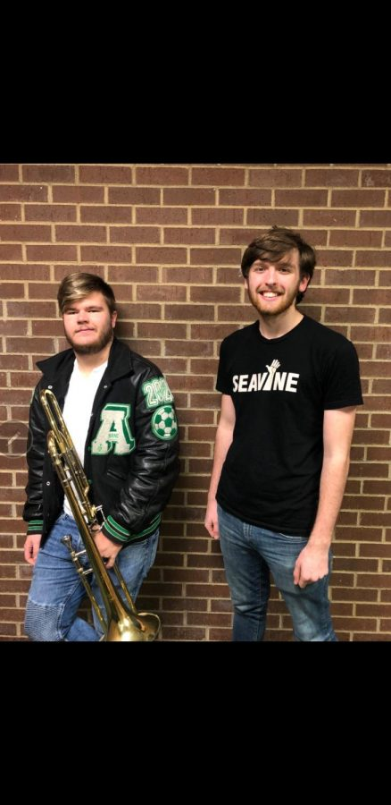 On+the+left+is+Robert+Caney+and+the+right+is+Alexander+Heath%2C+both+were+selected+to+perform+to+the+All-State+choir+and+band.+