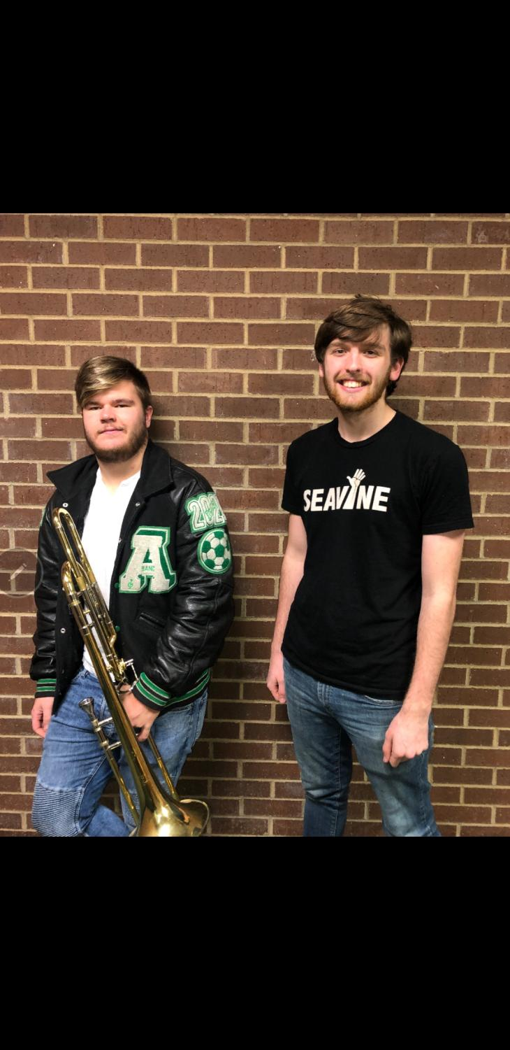 On the left is Robert Caney and the right is Alexander Heath, both were selected to perform to the All-State choir and band.