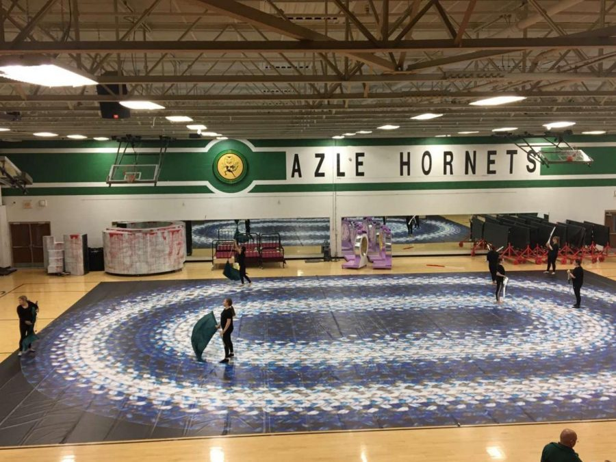 Color Guard Competes at NTCA Competition