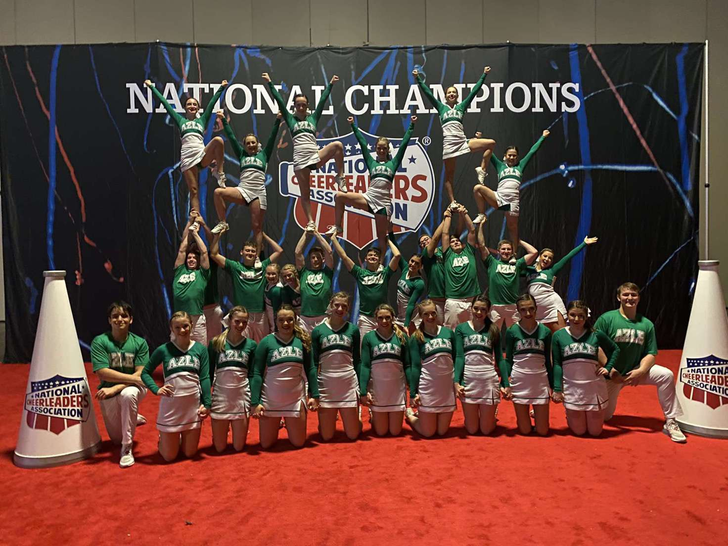 Here is the Cheer team after the competition.