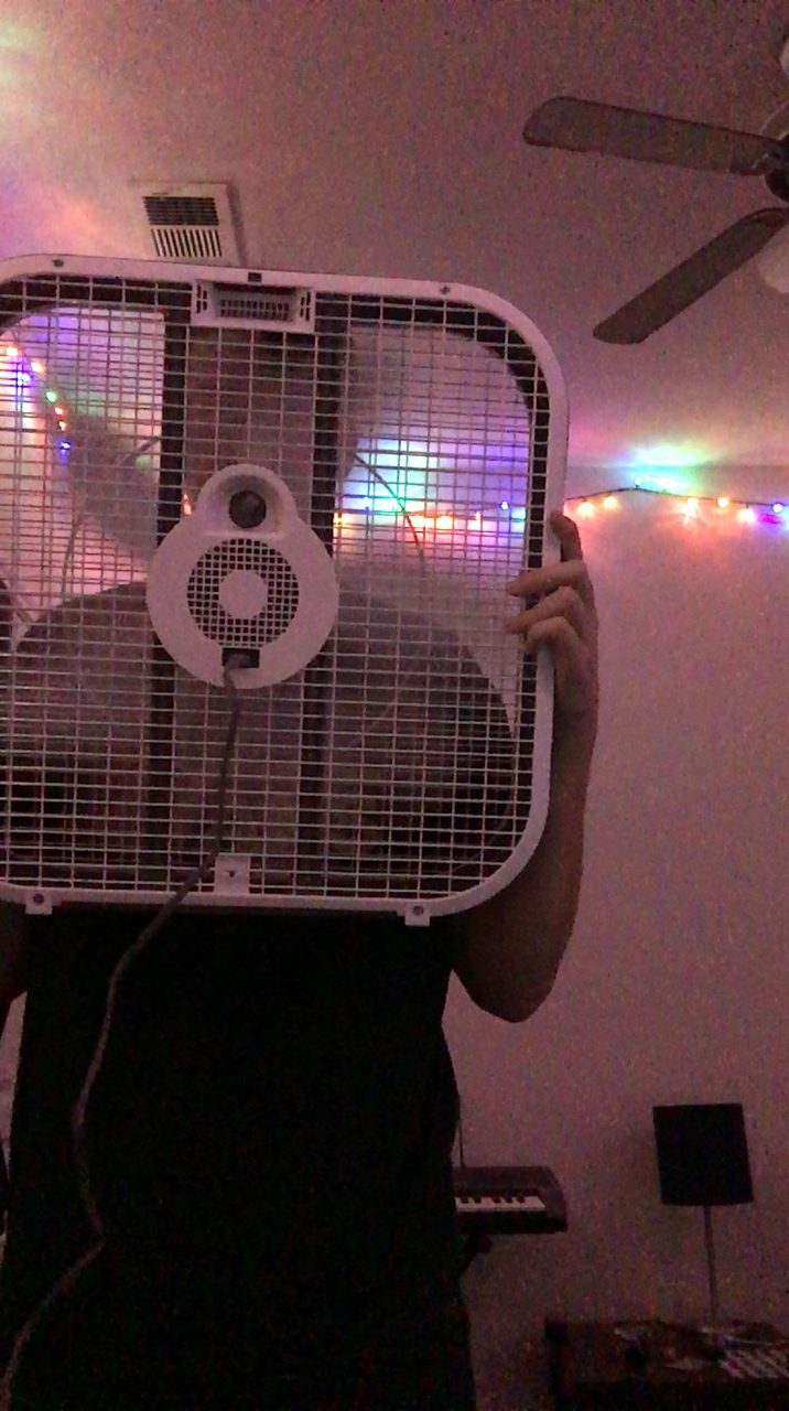 This is my boyfriend Caleb (who lives an hour away) while we were on Face Time. This was the moment when he held a fan and proceeded to say,