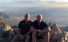 Coach Stephen Smith with his son Luke in Albuquerque, NM.