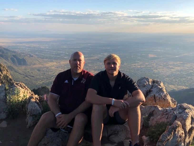 Coach+Stephen+Smith+with+his+son+Luke+in+Albuquerque%2C+NM.+