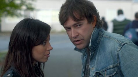 Aubrey Plaza (Darius) and Mark Duplass (Kenneth Hathaway)