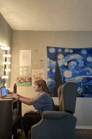 Tori Patton in her online learning space.