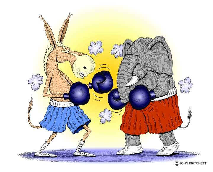 Republican+elephant+boxing+Democrat+donkey