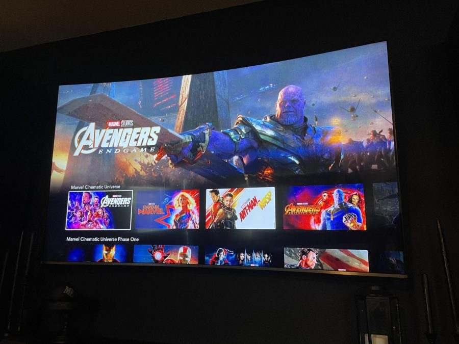 Marvel movies are shown on Disney+.