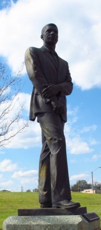 Statue behind the Medgar Evers Boulevard Library in Jackson, Mississippi.
