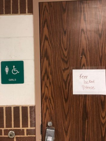 One of the many bathrooms that are closed.