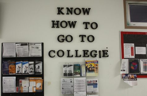 The college wall in the B hall.