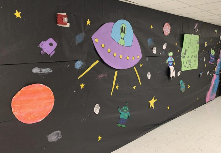 A Hall was decorated by the PALs classes.