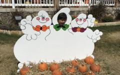 Daniel having fun at the Flower Mound Pumpkin Patch!