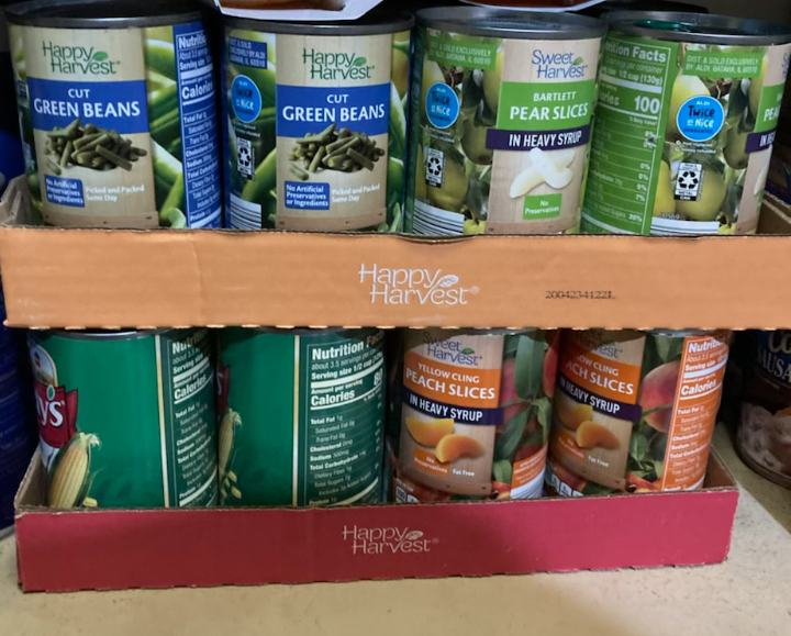 Interact Collects Food for Thanksgiving Drive